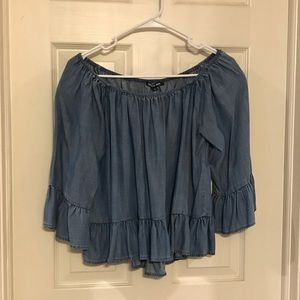 Gianni Bini Denim Off Shoulder Top